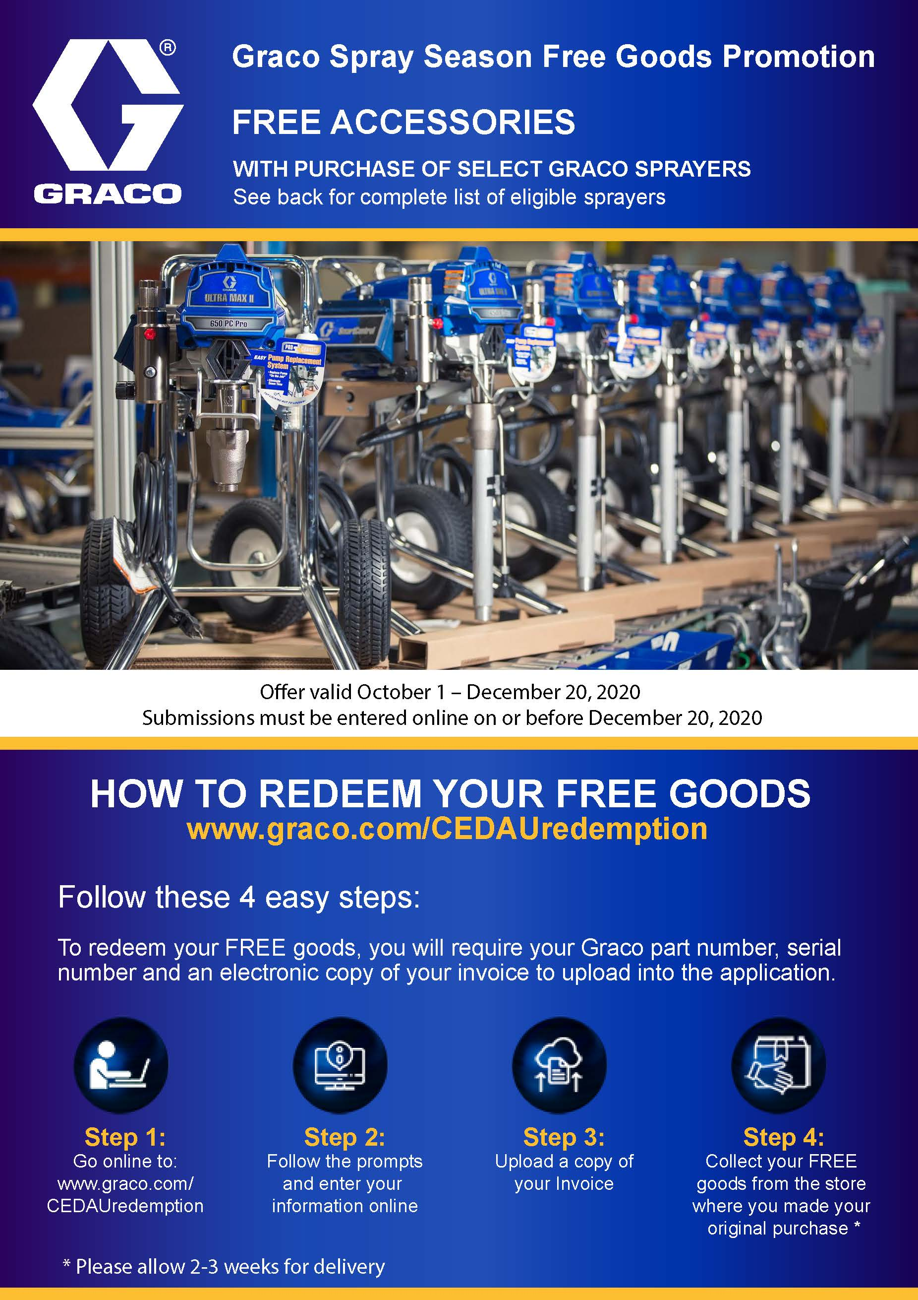 Graco Sprayer Accessories Promotion 2020