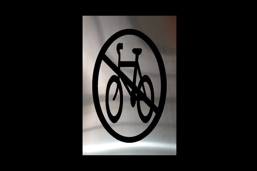 No-Bicycles Pavement Symbol For Paths